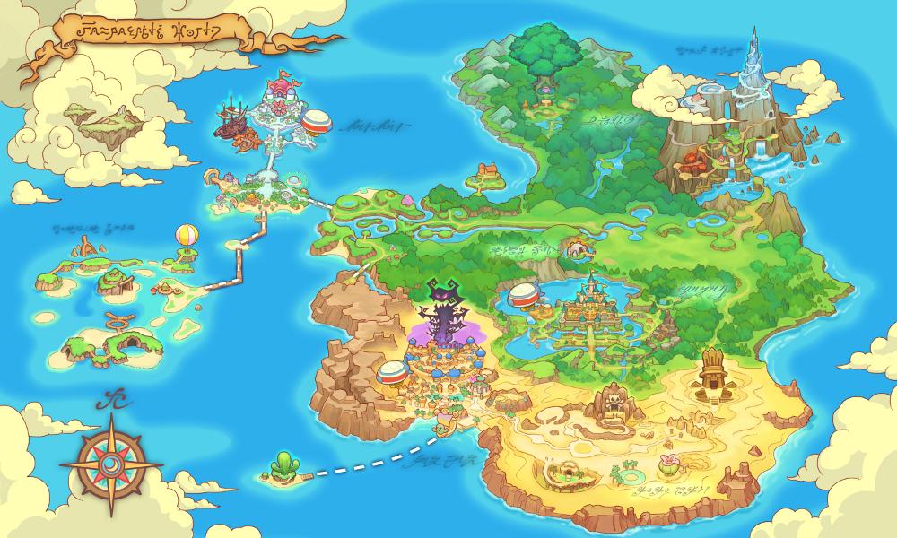 Fantasy Life Mapa