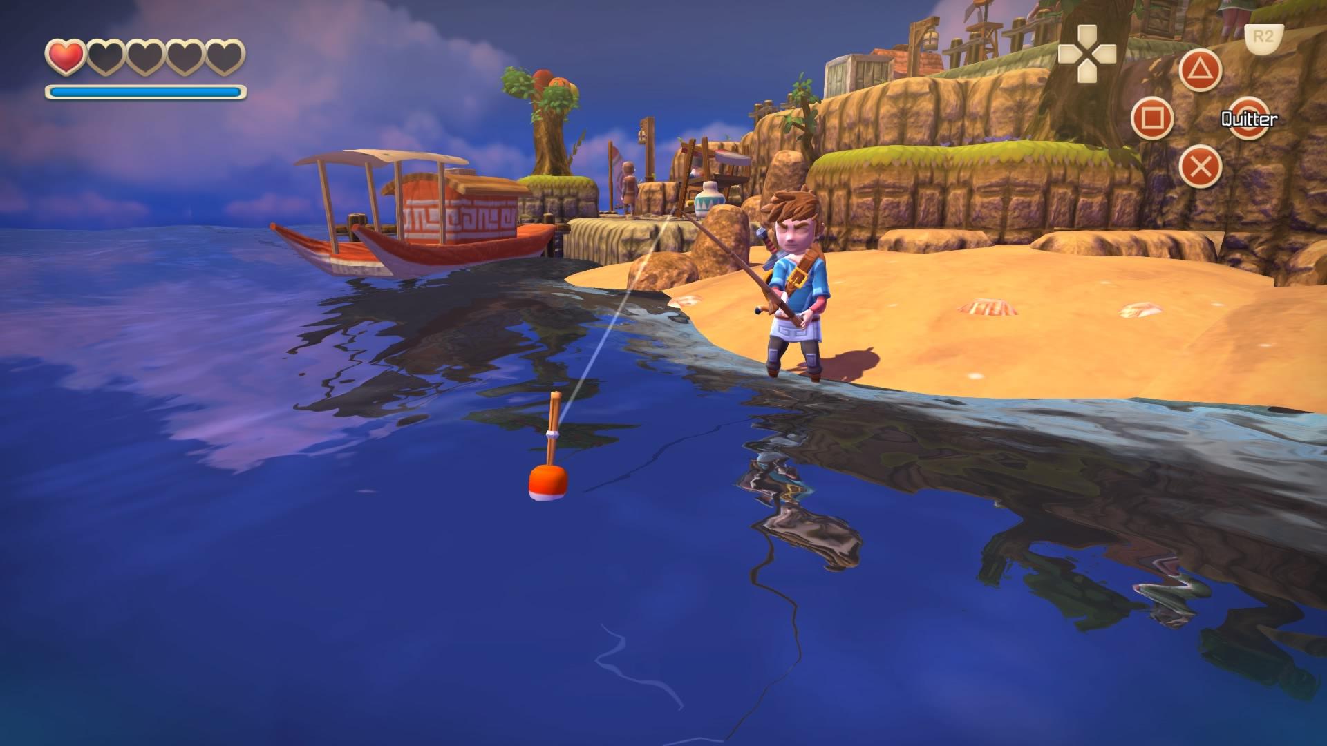 Per contra, se pòt pescar dins Oceanhorn, es una origin...non, desconi, ven de Zelda tanben.