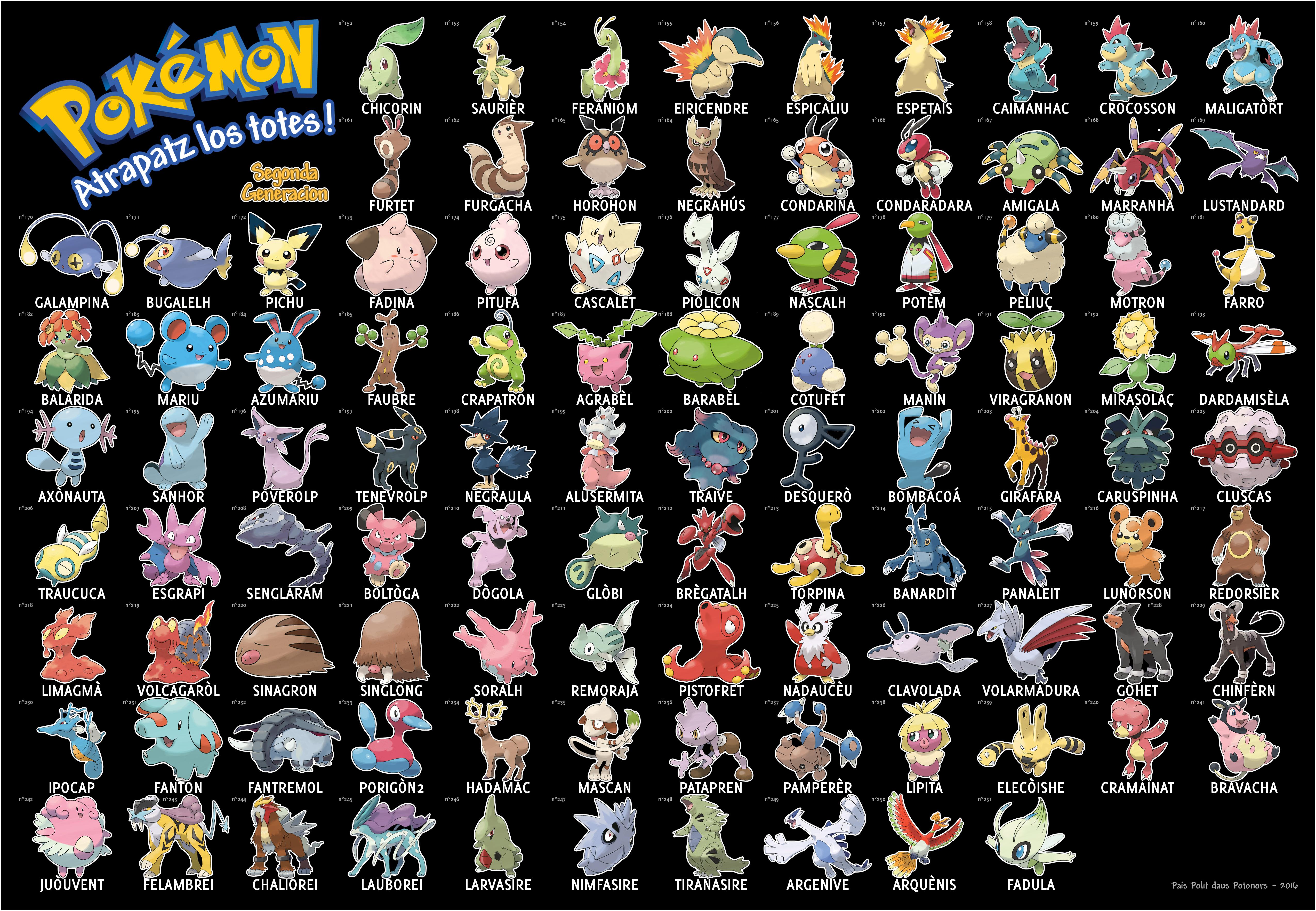 Pokémon Occitan Segonda Generacion